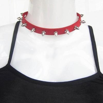 Spikes-Rivets-Punk-Necklaces HJ369