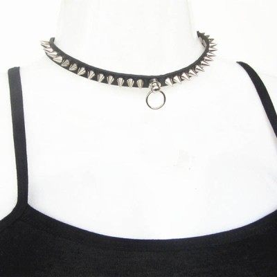 Spikes-Rivets-Punk-Necklaces HJ371