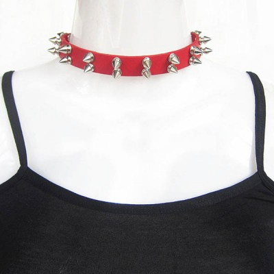 Spikes-Rivets-Punk-Necklaces HJ372