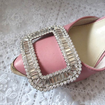 XL103 Large square diamond/Metal pin buckle/A diamond buckle Shoes/bags accessories 55x74mm MOQ 10pcs