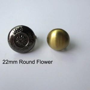 XL104 Dome Flower Studs 22mm 100pcs/bag