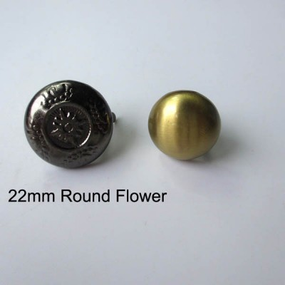 XL104 Dome Flower Studs 22mm 100pcs/bag