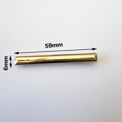 XL126 DIY jewelry accessories elongated strip rivet/Light gold stick/Metal buckles clip 6x59mm MOQ 10pcs