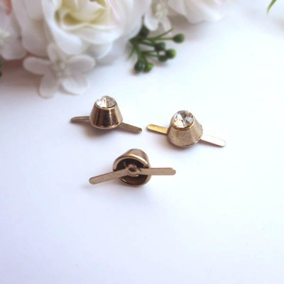 XL128 Wholesale Bucket Studs Diamond 10x8mm 100pcs/bag