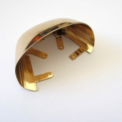 XL133 Square head Toe cap/Decorative buckle/Light Gold/Can be adjusted Toe cap/Decorative iron rivets 32x60mm MOQ 10pcs