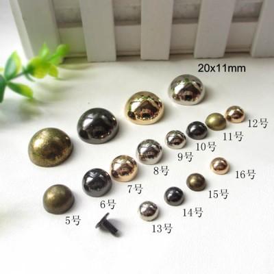 Wholesale Dome&Mushrooms Spikes XL509 20x11mm 100pcs/bag