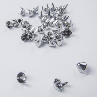 B106-Standard UK77 Cone Iron Studs 12x6.5mm 100pcs/bag