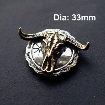 NA037 Indian Bull Skull The Conchos 33mm