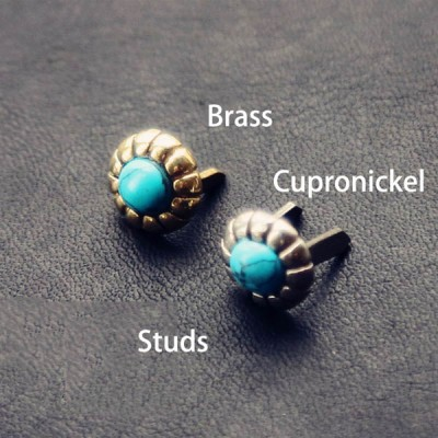 NA052 Turquoise Conchos Studs 9mm