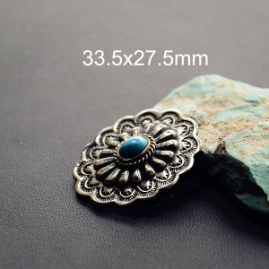 NA090 Turquoise Conchos 33.5x27.5mm