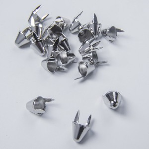 UK77 Cones Tall English77 Silver  / 12.7 (Height) x10.8 (Dia) x 8.8 (Prong Length) in mm