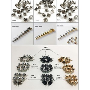 Conical Cone Studs are great for use in a variety of ways for DIY projects.