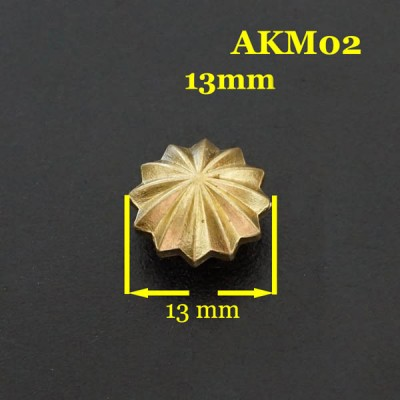 AKM02-13 Concho Leather 13mm 1pc/bag