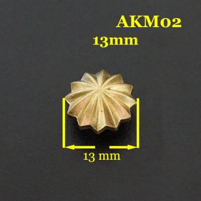 AKM02-13 Concho Leather 13mm 1pc/bag