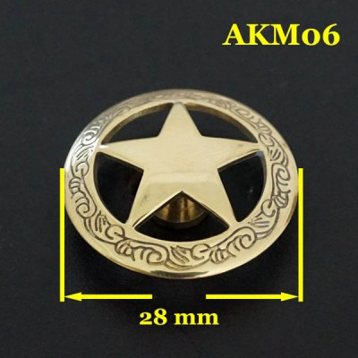 AKM06-28 Cheap Western Conchos 28mm 1pc/bag