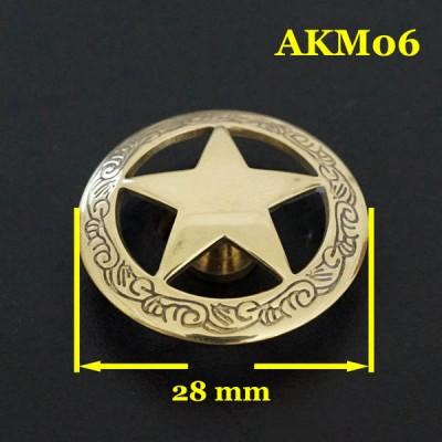 AKM06-28 Cheap Western Conchos 28mm 1pc/bag