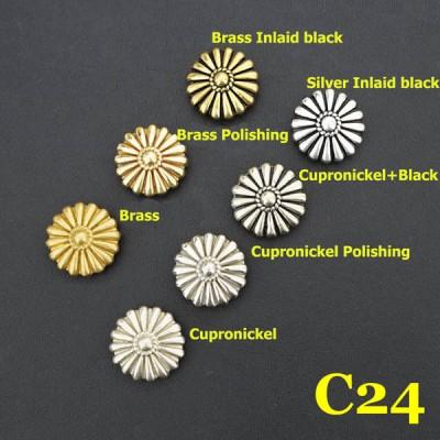 C24 Conchos Rivet Back  16.5mm 1pc/bag