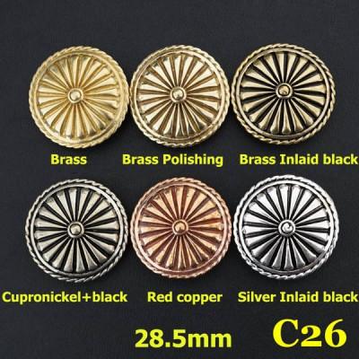 C26 Purple Conchos 28.5mm 1pc/bag