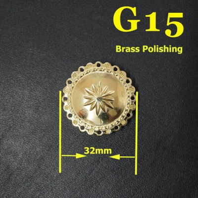 G15 Pure Copper Pattern Conchos  32mm 1pc/bag