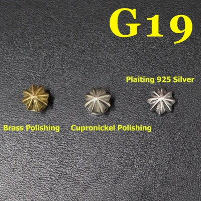 G19 Custom Saddle Conchos 10mm 1pc/bag