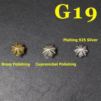 G19 Custom Saddle Conchos 10mm 1pc/bag