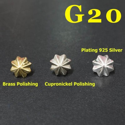 G20 Sterling Silver Conchos 10mm 1pc/bag