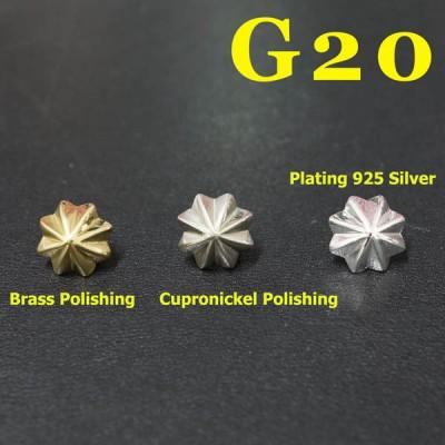 G20 Sterling Silver Conchos 10mm 1pc/bag