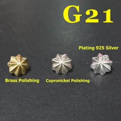 G21 Pendant Round Button Conchos 10mm 1pc/bag