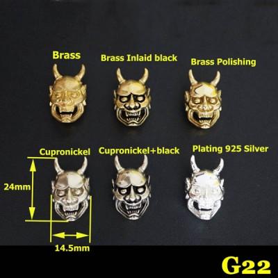 G22 Prajna Horn Conchos  14.5x24mm 1pc/bag