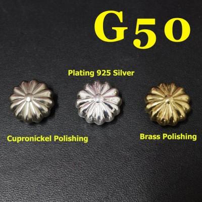 G50 Pure Brass Pumpkin Conchos 17mm 1pc/bag
