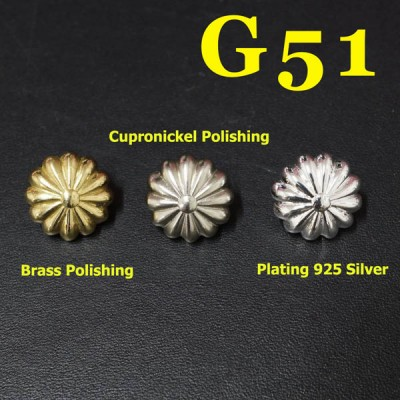 G51 Conchos For Tack Studs 17mm 1pc/bag
