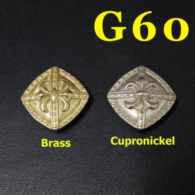 G60 Brass Shield Badge Conchos 22.5mm 1pc/bag