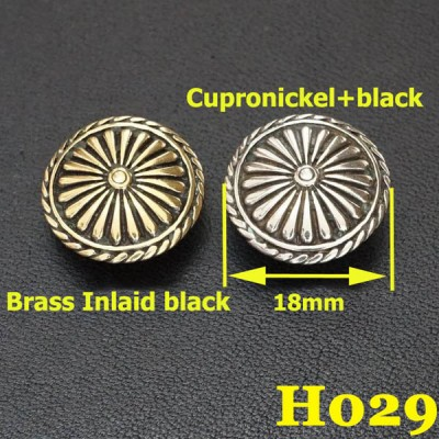 H029 Brass Iris Conchos 18mm 1pc/bag
