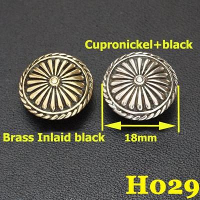 H029 Brass Iris Conchos 18mm 1pc/bag