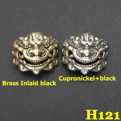 H121 Vintage Cupronickel Concho Leathercraft Hardware Hand-Polish High-Quality  23x25.5mm 1pc/bag