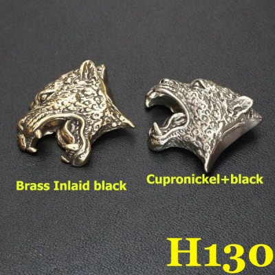 H130 Brass Leopard Conchos 24x31mm 1pc/bag