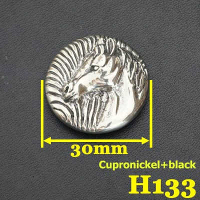 H133 Horse Head Conchos 30mm 1pc/bag