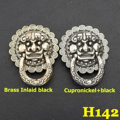 H142 Brass Conchos 27x35mm 1pc/bag