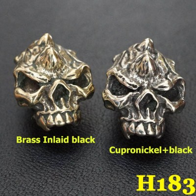 H183 Skull Conchos 14x19.5mm 1pc/bag