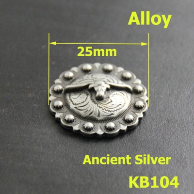 KB104 Round Calf Conchos 25mm 1pc/bag