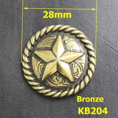 KB204 Pentagonal Badge Conchos 28mm 1pc/bag