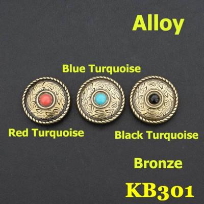 KB301 Conchos Turquoise 25mm 1pc/bag