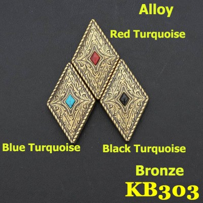 KB303 Wholesale Rhinestone Conchos 25x42mm 1pc/bag