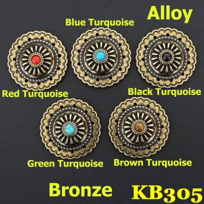 KB305 Turquoise Conchos Wholesale 36mm 1pc/bag