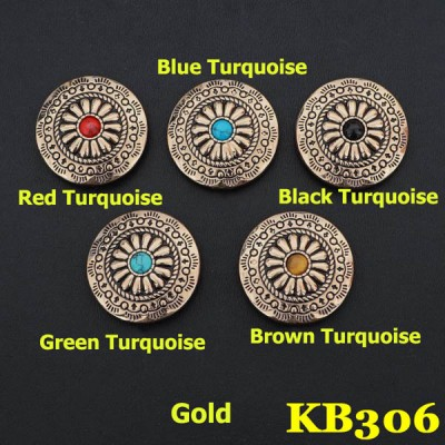 KB306 Square Bling Conchos 30mm 1pc/bag