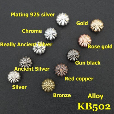KB502 Alloy Chrysanthemum Conchos 11mm 1pc/bag