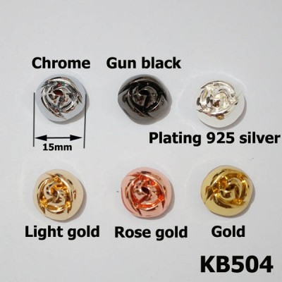 KB504 Camellia Conchos 15mm 1pc/bag