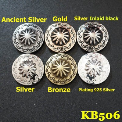 KB506 Vintage Chrysanthemum Conchos 19mm 1pc/bag