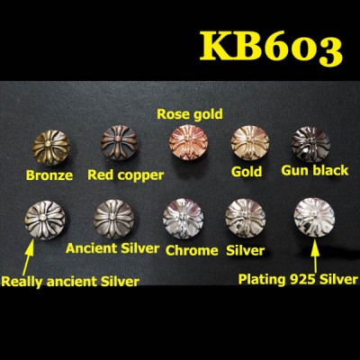 KB603 Cross Flower Conchos 13mm 1pc/bag