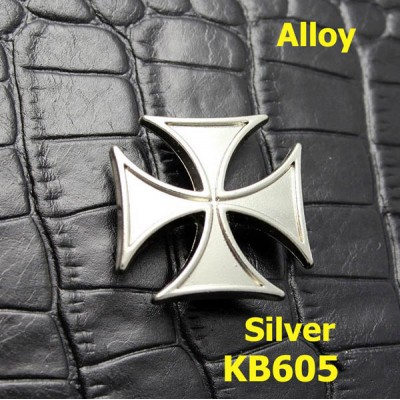 KB605 Maltese Cross Badge Conchos 25mm 1pc/bag